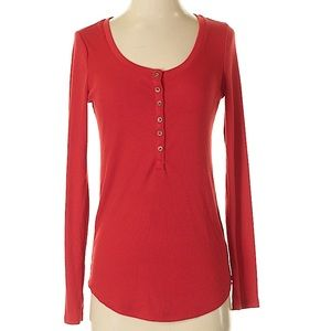 Tops - Old Navy- Red Henley